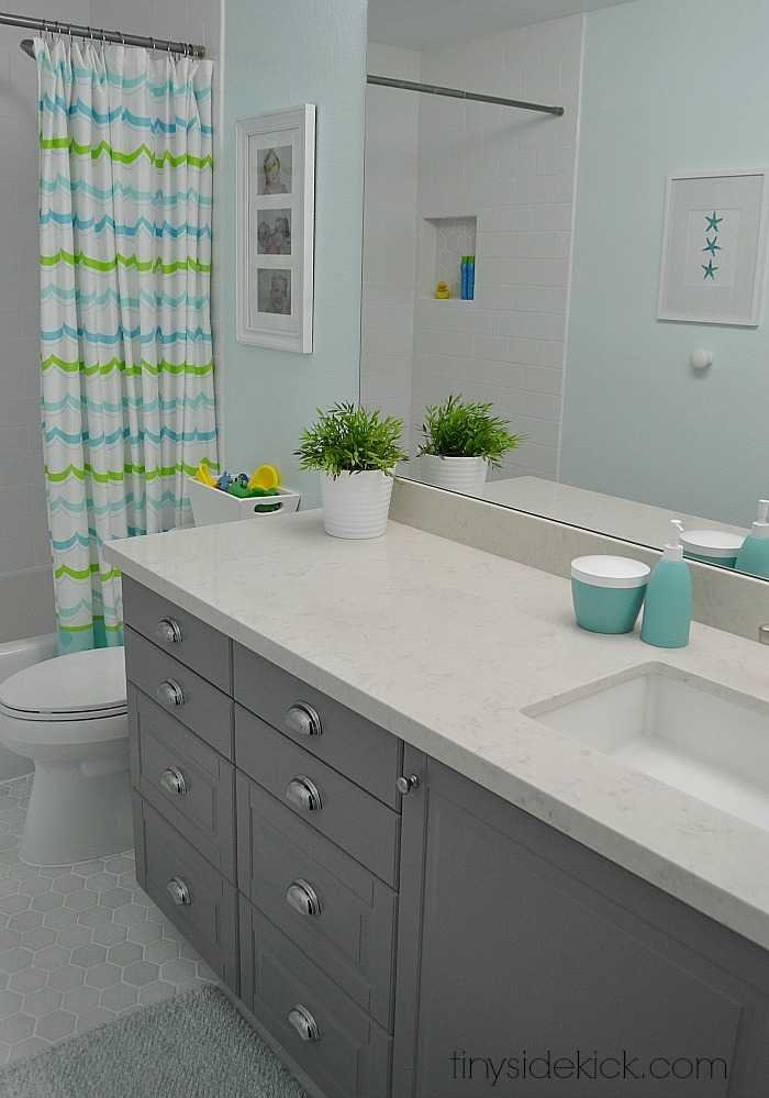 Modern coastal bathroom sources for Bathroom kitchen remodel