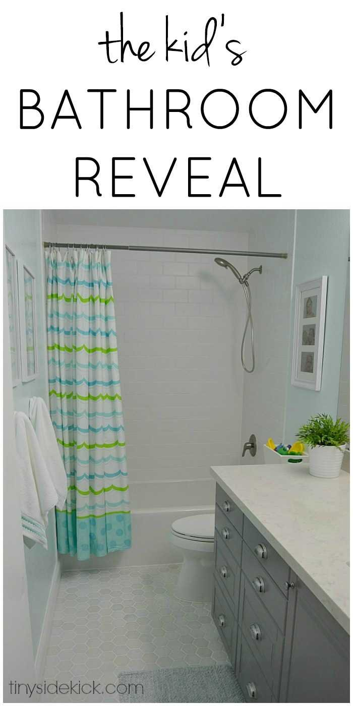 Kid's bathroom reveal! You will not believe what this couple was able to do to create the bathroom of their dreams!