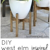 West Elm inspired wooden plant stand