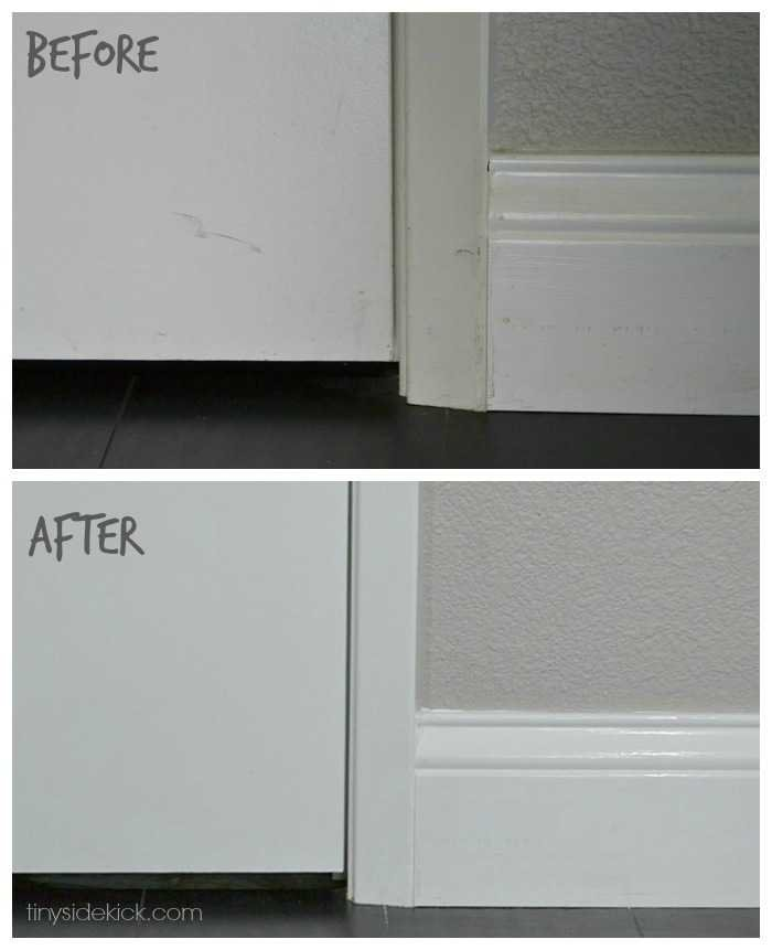 Before And After Of Painted Interior Doors