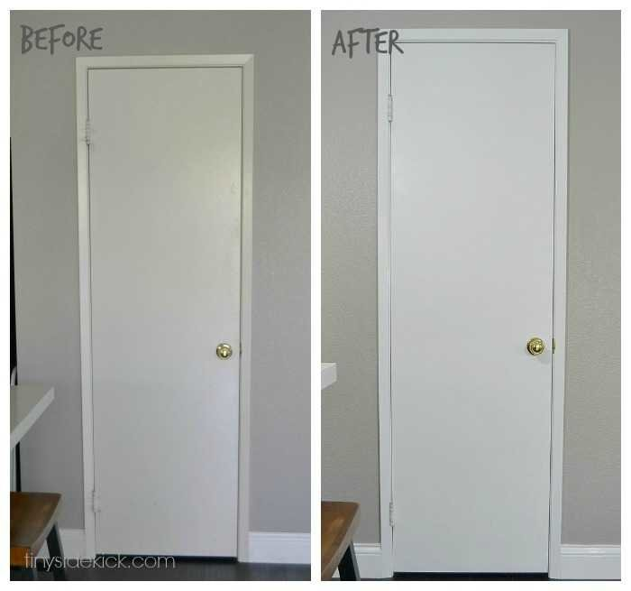 before and after painting interior doors. Black Bedroom Furniture Sets. Home Design Ideas
