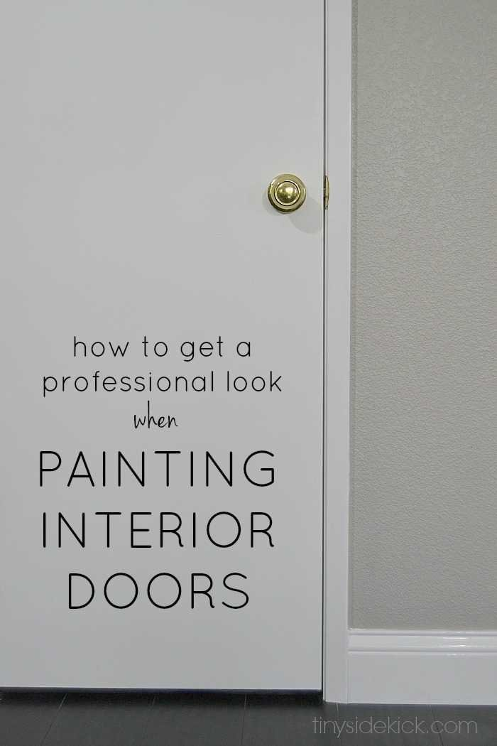 how to get a professional look when painting interior doors. Black Bedroom Furniture Sets. Home Design Ideas
