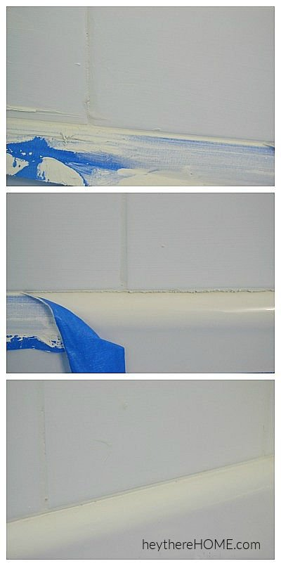 how to grout along the top of a bathtub