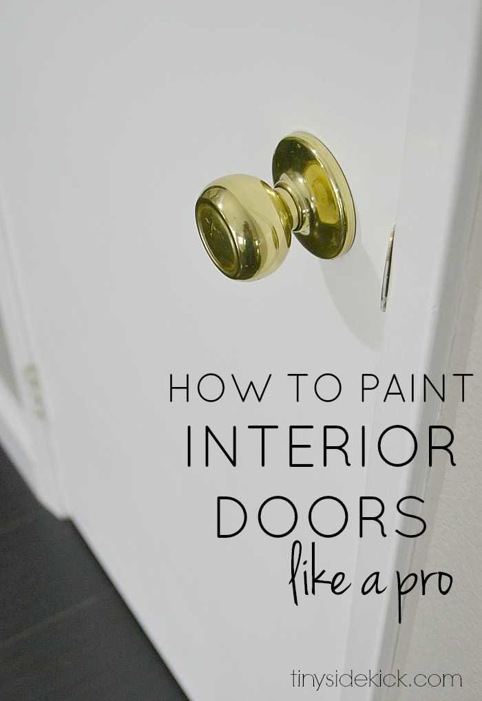 how to paint interior doors like a pro. Black Bedroom Furniture Sets. Home Design Ideas