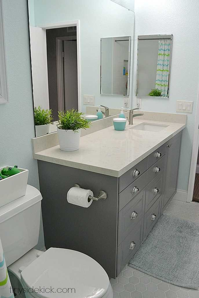 The kid 39 s brand new bathroom reveal for Bathroom remodel 2015