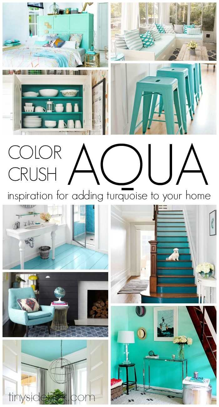 Color crush Aqua - So much amazing inspiration for adding turquoise to your home