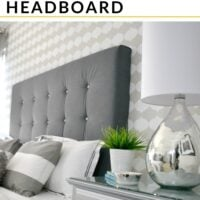 DIY No-sew upholstered headboard