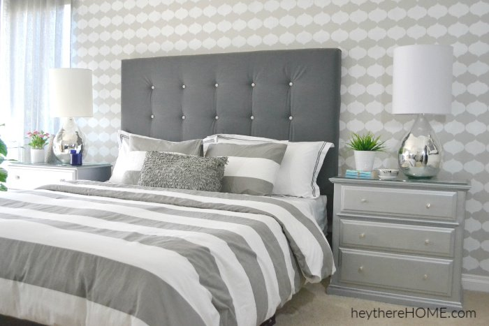 DIY Upholstered Headboard With Tufting!