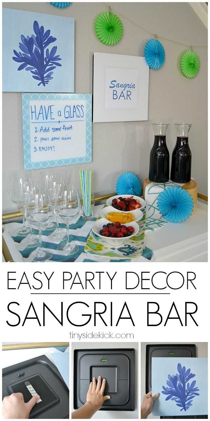 Easy entertaining ideas- Sangria Bar