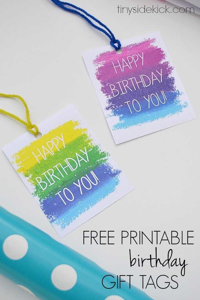 picture relating to Happy Birthday Tag Printable identified as Absolutely free Printable Birthday Reward Tags