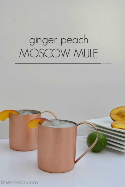 ginger peach moscow mule recipe