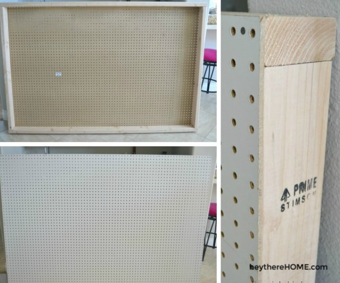 how to build a headboard frame with peg board