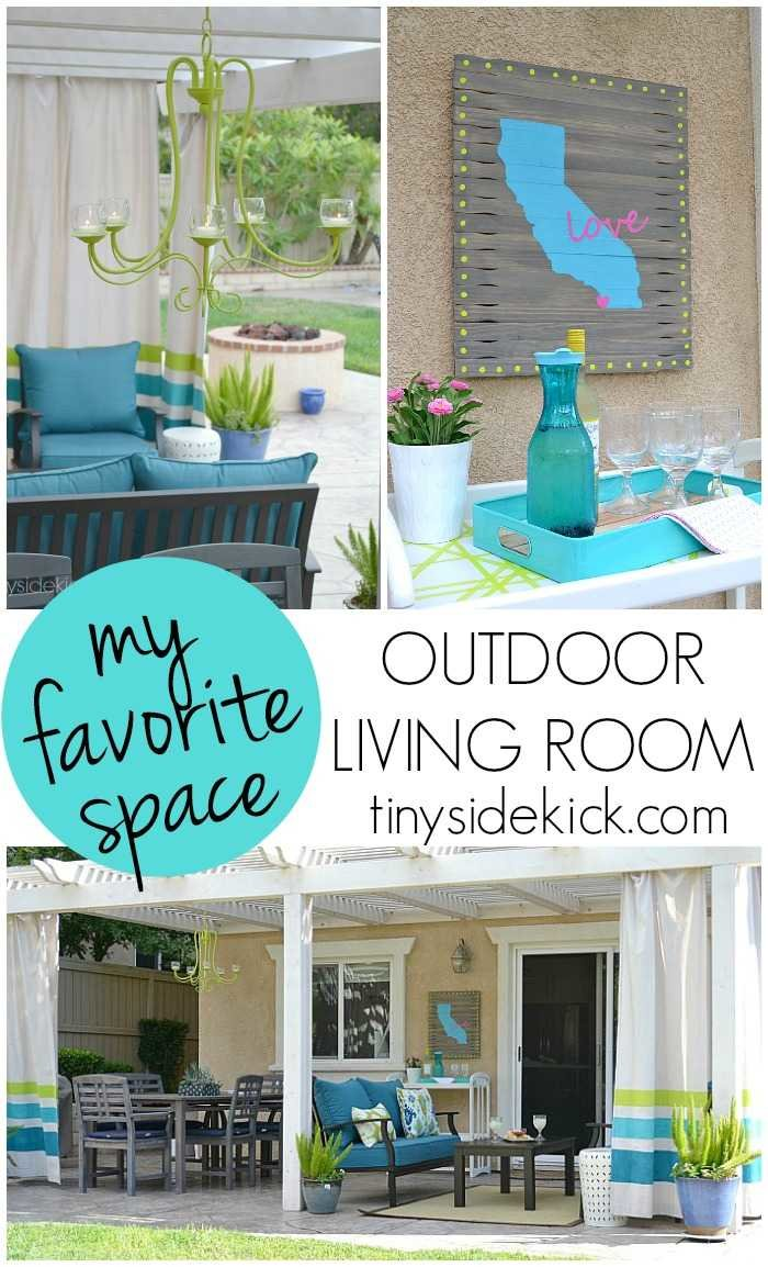 My Favorite Space An Outdoor Living Room By TinySidekick - Just A Girl And Her Blog