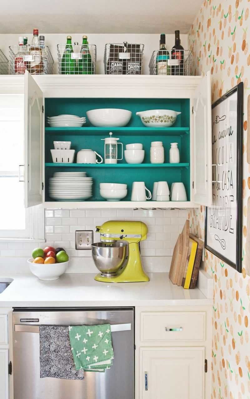 paint the inside of cabinets