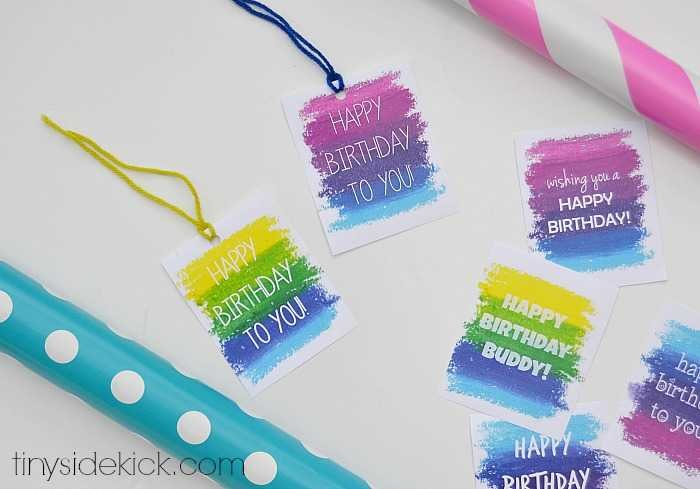 Free printable birthday gift tags printable birthday gift tags negle Images