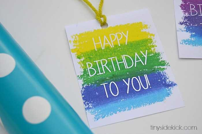 Free printable birthday gift tags printable birthday gift tags negle