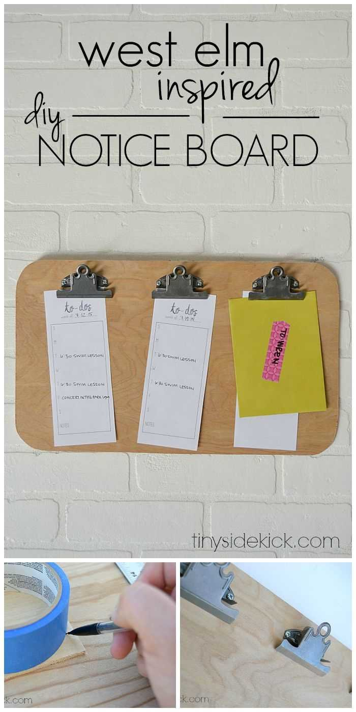 west elm inspired diy expert notice board