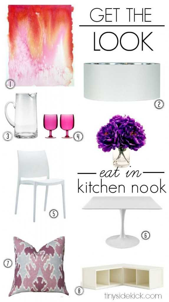 get the look- simple eat in kitchen