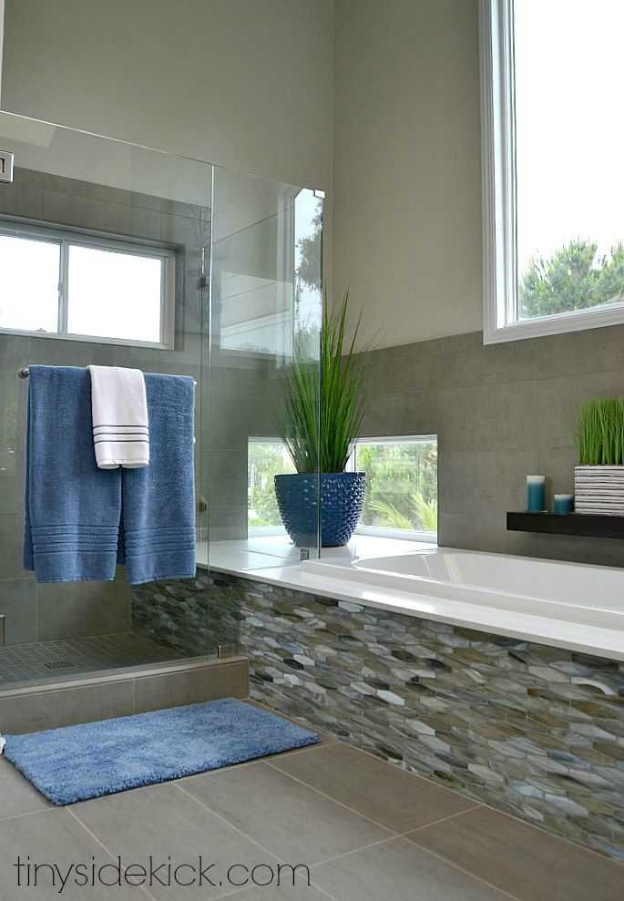 Modern Coastal Bathroom Remodel By TinySidekick.com