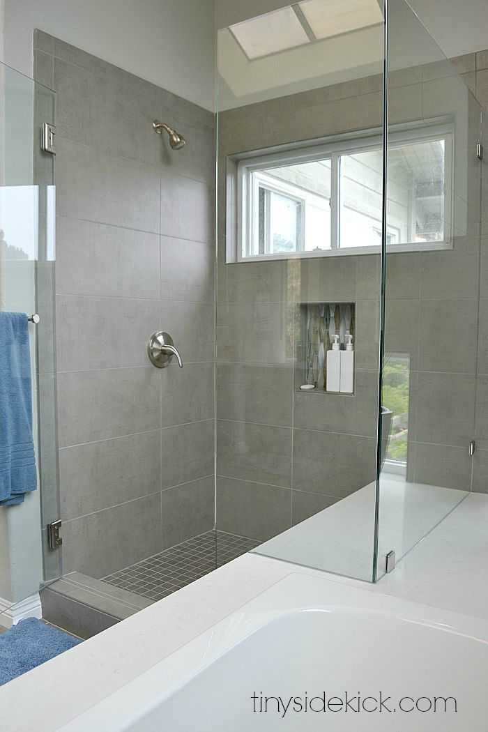 modern coastal master bathroom remodel at tinysidekickcom - Bathroom Remodel Grey