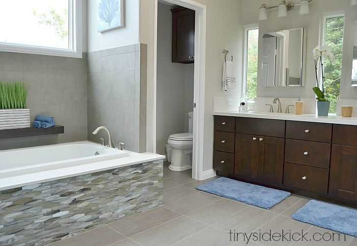 master bathroom remodel, how to update a master bathroom, modern coastal master bathroom (7)