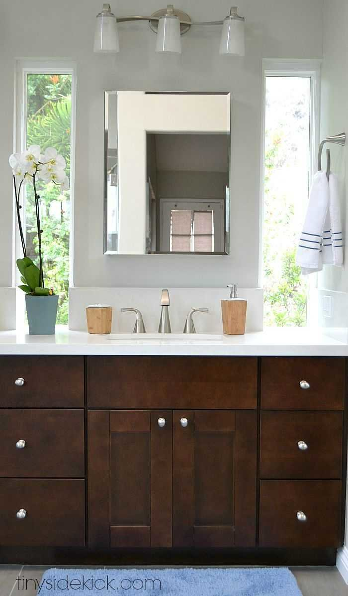 bathroom cabinet remodel. Master Bathroom Remodel, How To Update A Bathroom, Modern Coastal ( Cabinet Remodel G