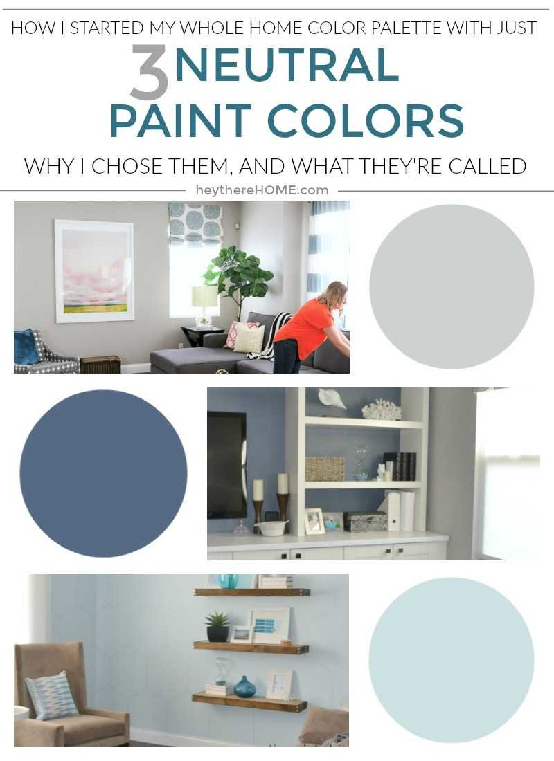 The neutral paint colors in my whole home color palette
