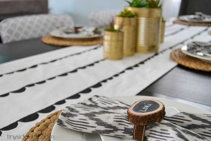 easy painted table runner