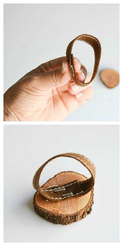 DIY woodslice and chalkboard napkin rings