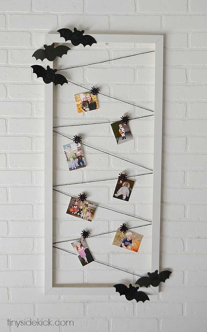 easy halloween photo display