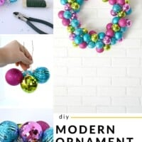 DIY modern ornament wreath