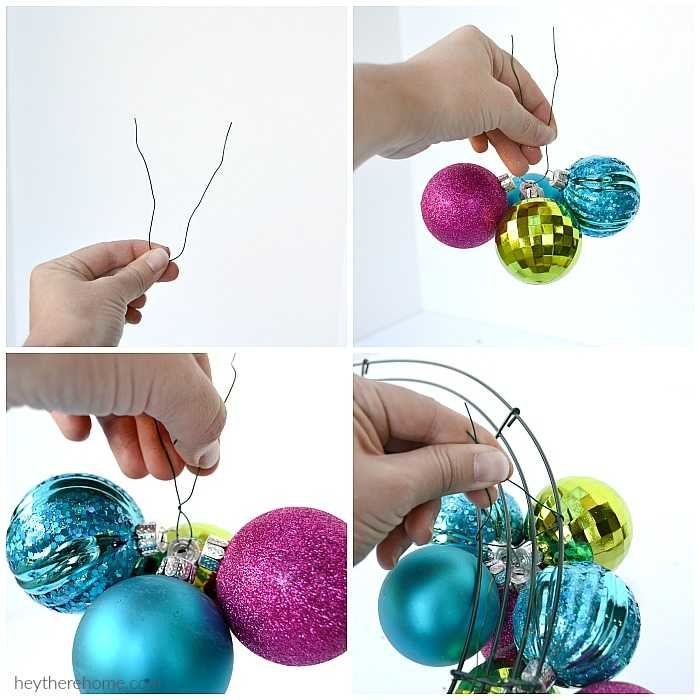 how to make a diy ornament wreath