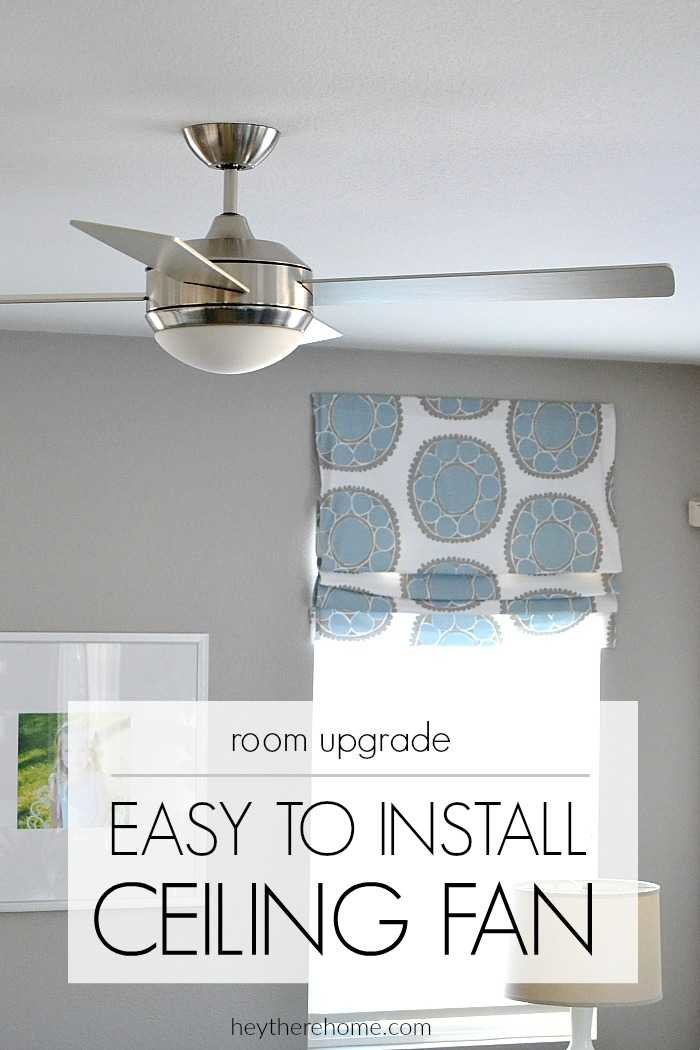 easy to install ceiling fan to update a living space