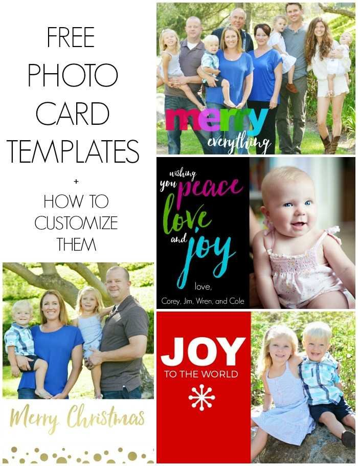free photo card templates plus how to customize them
