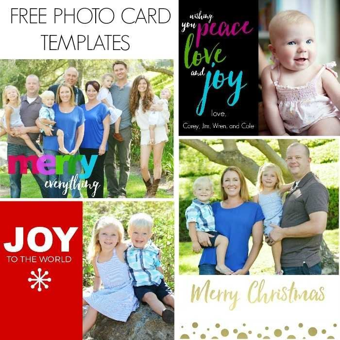 free photo card templates