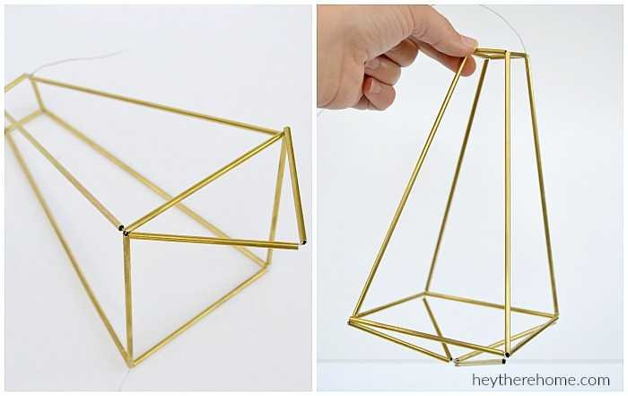 how to make a geometric hemmeli pendant light