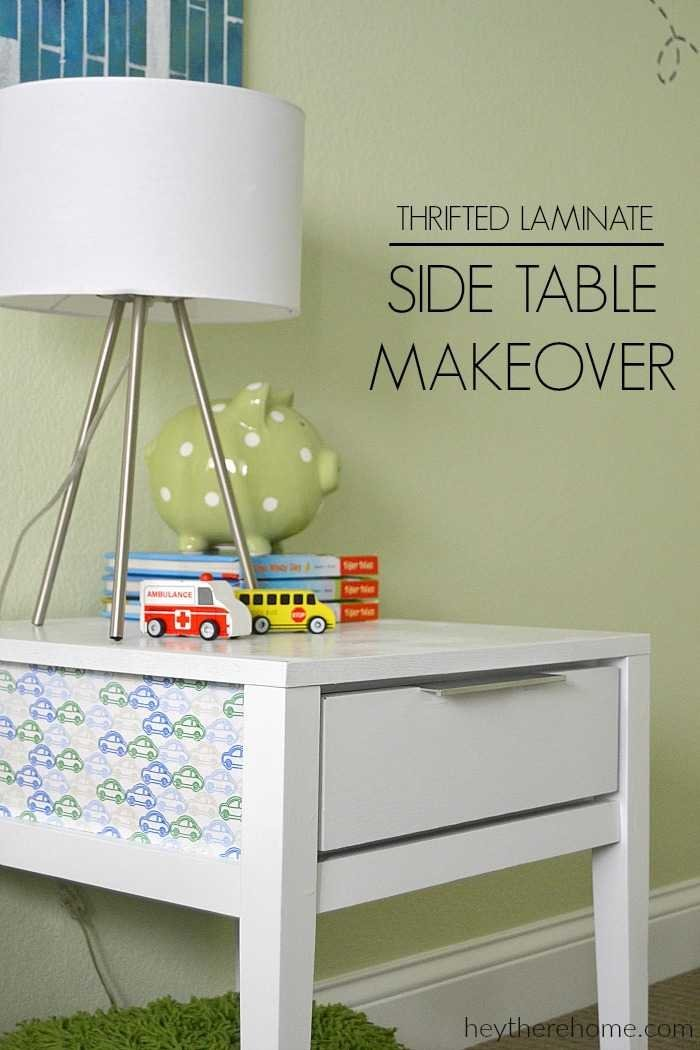 Can Not Believe How This 5 Side Table Makeover Turned Out Love The Fabric Detail