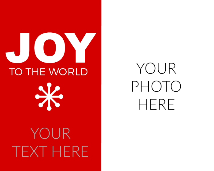 joy to the world photo card template EXAMPLE