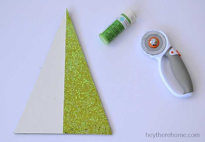 modern christmas decorations - modern christmas trees tutorial glitter paper