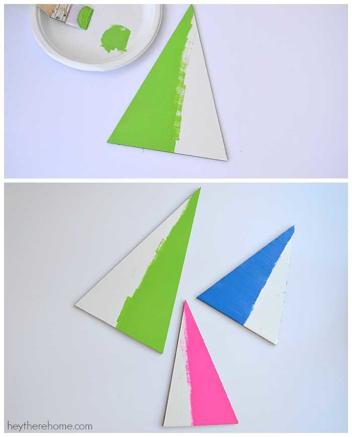 modern christmas decorations - modern christmas trees tutorial paint the trees