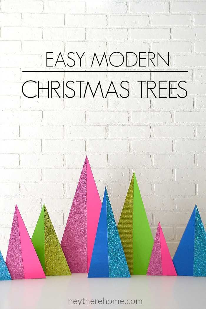 Glittery modern christmas trees fun and easy to make - Modern christmas tree ideas ...