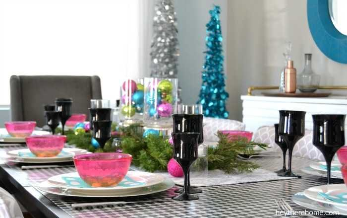 Fun and festive Christmas tablescape 1