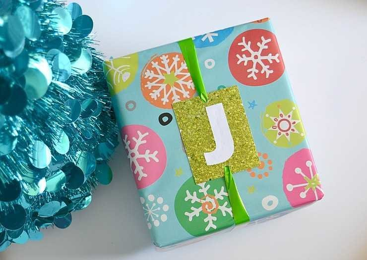 DIY Monogrammed Christmas Gift Tags