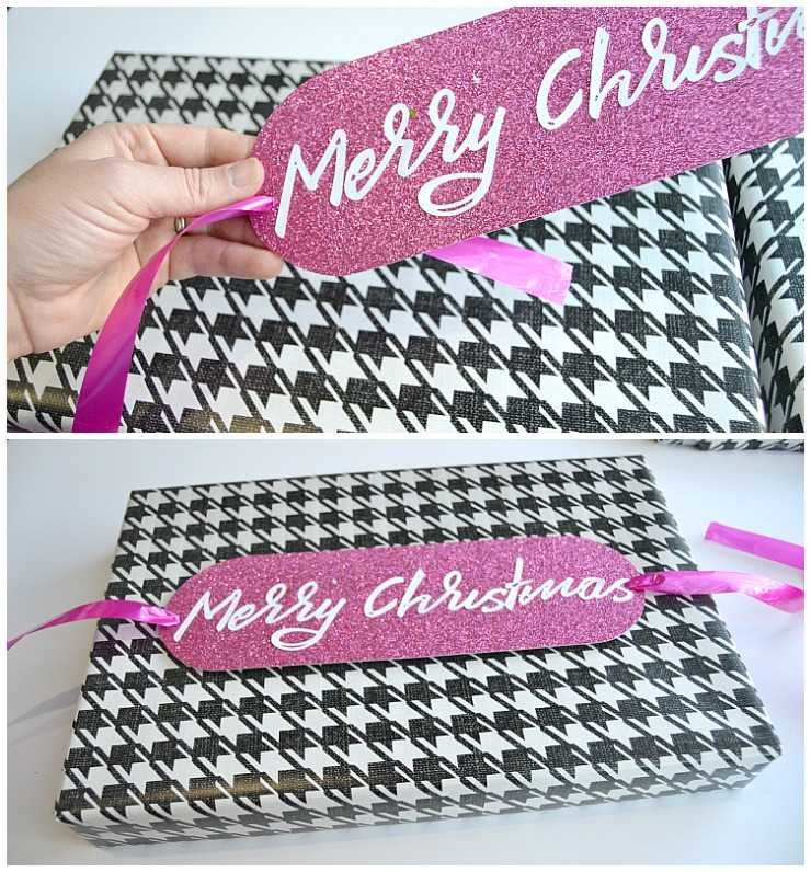 DIY Monogrammed Holiday Gift Tags