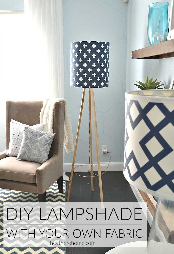 Diy drum shade with my own fabric diy lamp shade using your own fabric aloadofball