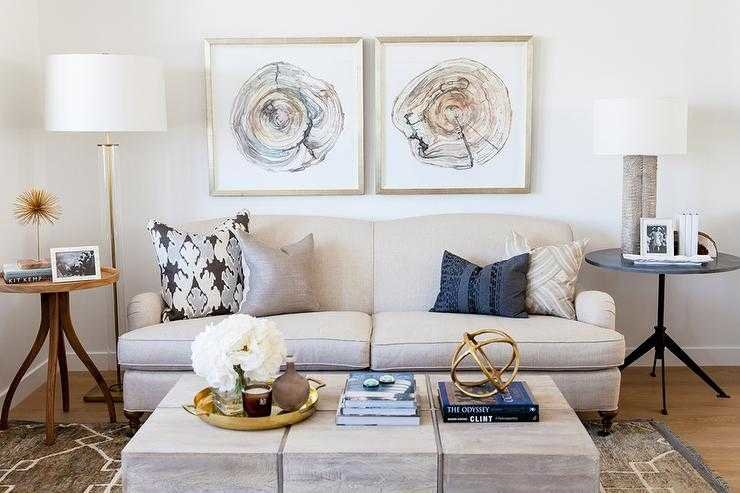Mismatched Side Tables Living Room