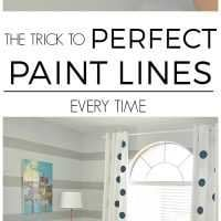 how to paint perfect lines on textured walls