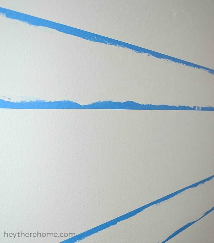 how to paint stripes on textured walls