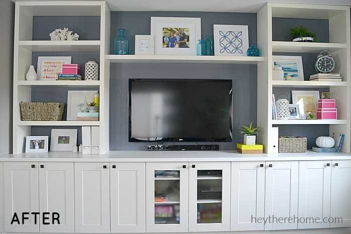 how to style shelves-after