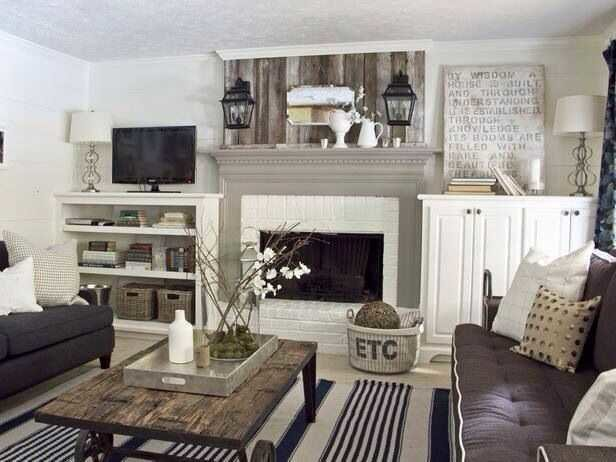 mixing traditional and rustic decor